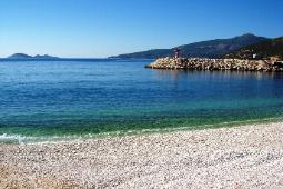 Kalkan's pebble beach