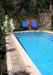 Sun-loungers, Pool and Gardens